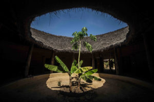 Foto: Interior dunha casa Impluvium no pobo de Enampor