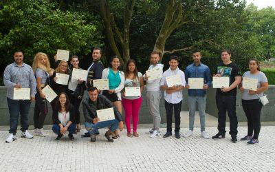 Agareso colabora con la FSG en la realización de un vídeo sobre el programa educativo-laboral que realizan en Compostela
