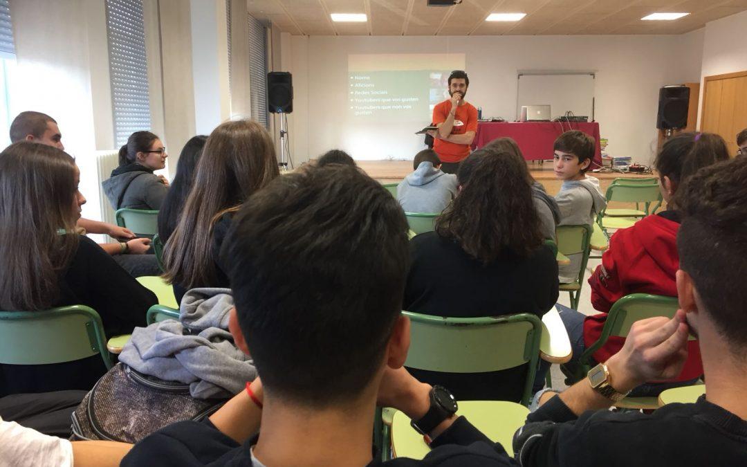 Youtubers para el cambio social, en el IES de Brión