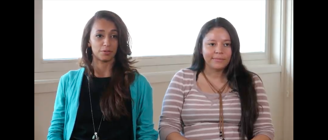 Érika García e Diana Guillén, referentes da militancia feminista en Honduras