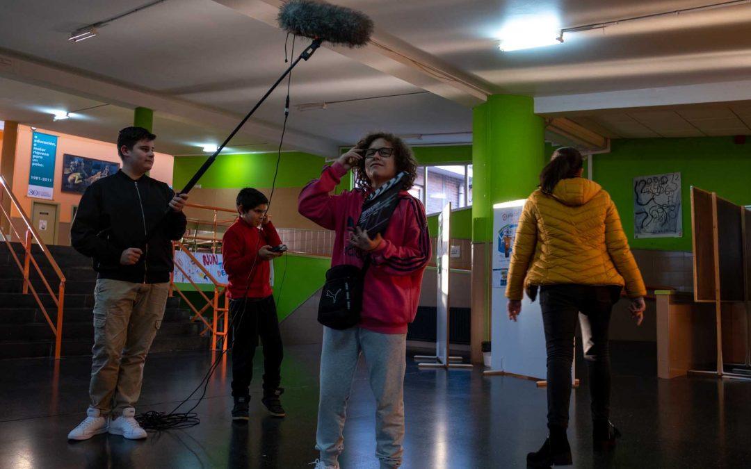 Empezamos los obradoiros de Tv escolar en el IES Xulián Magariños de Negreira
