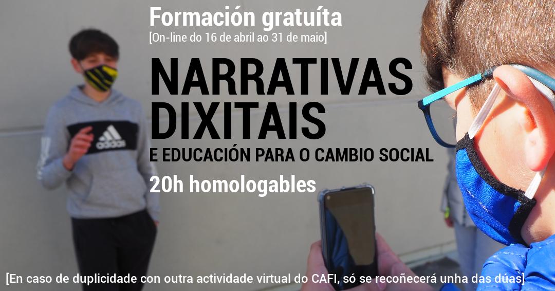 Aberta a inscrición para a formación en Narrativas dixitais e Educación para o Cambio Social do EpDLab